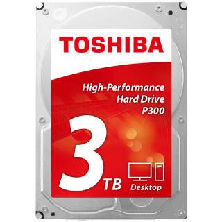 东芝(TOSHIBA) P300系列 7200转 64M SATA3 台式机硬盘 3TB 64MB 496元