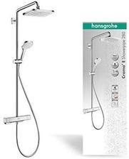 hansgrohe 汉斯格雅 淋浴系统Croma E淋浴花洒(淋浴喷头,顶部花洒,花洒导轨