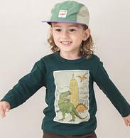 日本超高人气童装品牌,petit main 2019秋季新款 男童日系时尚纯棉长袖T恤 3色 39元包邮