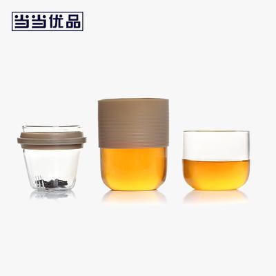 ¥39 当当优品 玻璃快客杯 一壶一杯