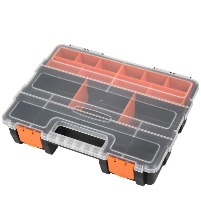 零件盒塑料盒PP盒螺丝收纳盒子元件盒分格箱物料盒手提零件收纳盒  券后14.8元包邮
