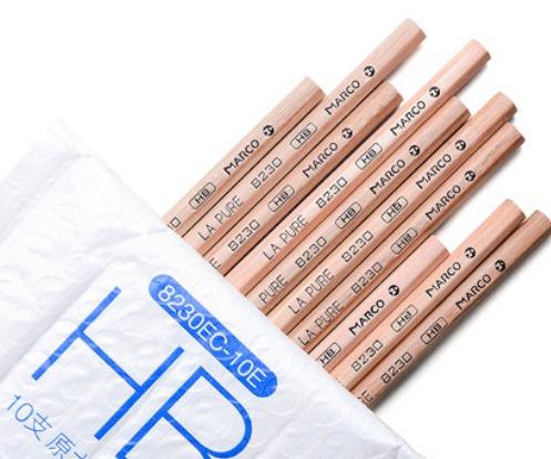 MARCO 马可 原木书写HB铅笔 10支装 +2橡皮 2.9元包邮(需用券)