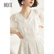 Oece2019春装新款 很仙的法国小众连衣裙女春秋复古裙山本超仙夏 *2件 590.4元(合295.2元/件)'