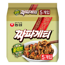 韩国进口农心韩式炸酱面140gx5袋杂酱面方便面整袋装 非火鸡面 22.9元