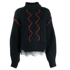 SELF-PORTRAITcontrast stitch 女款毛衣