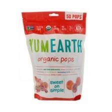 【7.7折】YumEarth 有机棒棒糖 混合口味 50支