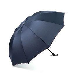 昵迪 八骨手动雨伞 98CM 黑/蓝款可选 9.9元包邮