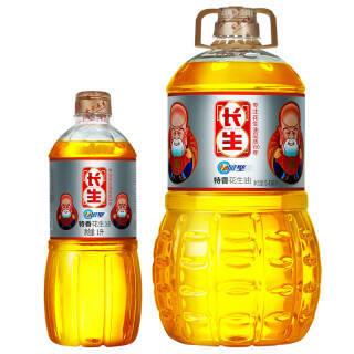长生花生油5.436L赠1L 特香压榨一级食用油 山东纯正粮油 99.9元
