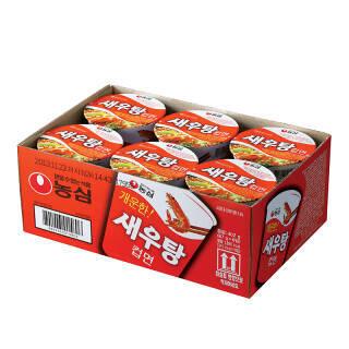 农心 韩国进口 鲜虾杯面 六连杯 方便面 泡面 速食食品 67g*6 12元