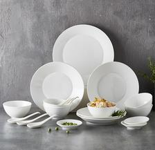 京东PLUS会员: 佳佰 纯白陶瓷餐具 20头 84.05元(双重优惠)