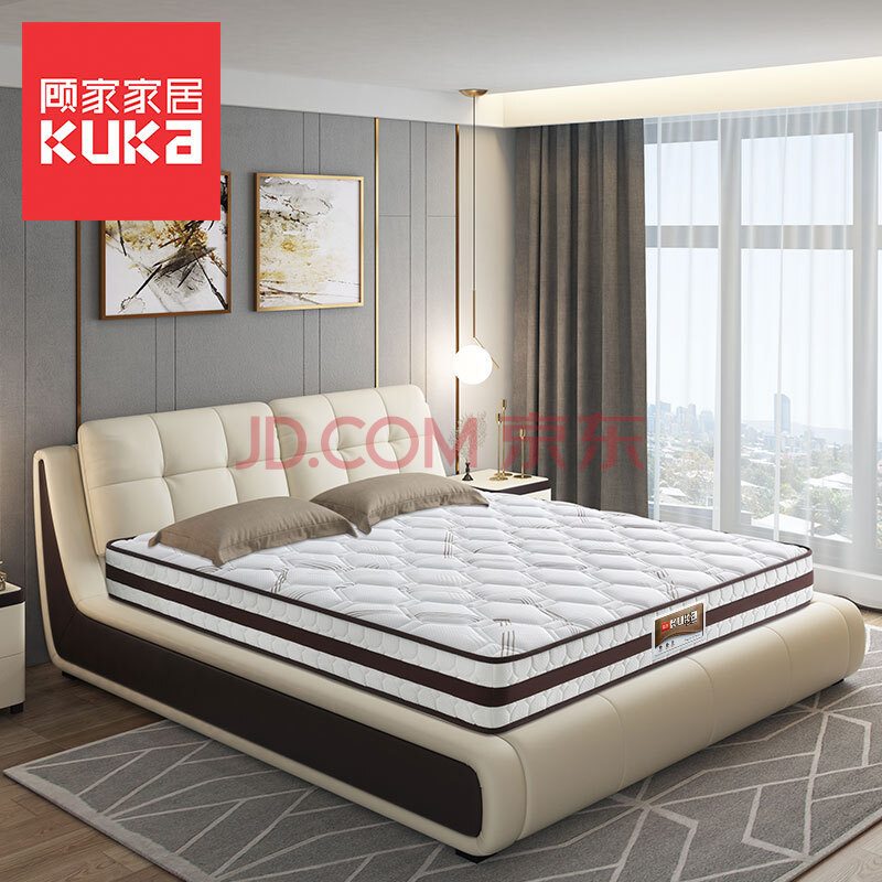 KUKA 顾家家居 DK.M1001 城市森语 邦尼尔整网弹簧床垫 180*200*22cm 1399元包邮