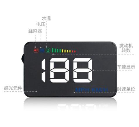 ¥114 京东PLUS会员: XINWUZHIJING 心无止镜 A500 HUD 抬头显示器