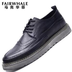 马克华菲 英伦风范 布洛克复古男鞋 149元包邮