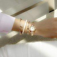 $59.99 (原价$175)史低价:Anne Klein 施华洛世奇水晶腕表4件套 高颜值