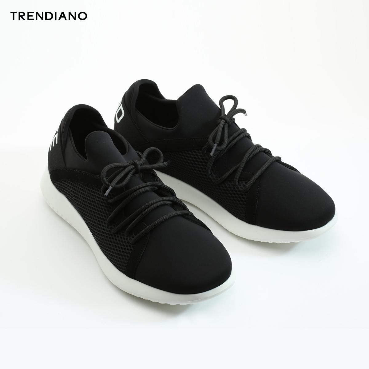 TRENDIANO男装夏装潮流个性拼接字母低帮休闲鞋运动鞋 231.3元