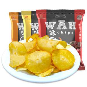 临期特价 印尼进口 WAH牌 木薯片32g*12包 拍两件10.9元包邮