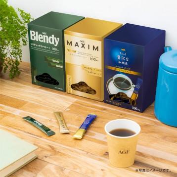 限150个!AGF 奢华特选混合口味速溶无奶无糖纯黑咖啡粉 100条 8折 JPY¥1460(¥76)