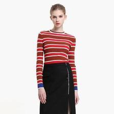ochirly 欧时力 1JJ4031550 女士条纹针织衫 低至70元(3件7折)