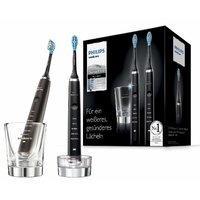 降至¥1346 黑白二色可选 Philips 新一代钻石电动牙刷 带充电玻璃杯 2支组合