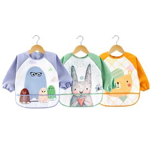 2件装 宝宝吃饭罩衣围兜防水反穿衣 券后¥19.9