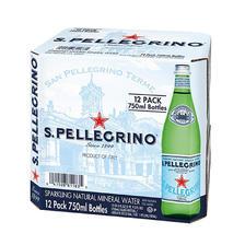 S.PELLEGRINO 圣培露 天然气泡矿泉水玻璃瓶 750ml*12瓶 99元包邮