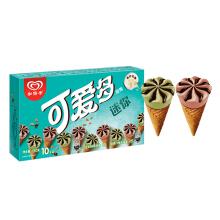 京东商城 限地区:和路雪 迷你可爱多抹茶+红豆口味 19g*10支*11件 123.5元包邮(合11.23元/件)