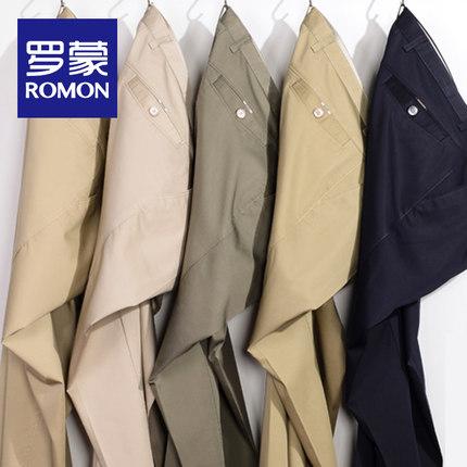 林志颖代言,Romon 罗蒙 男士纯棉弹力宽松休闲裤 多色 69元包邮(吊牌价168元)