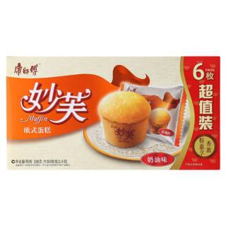 康师傅 奶油味妙芙蛋糕 288g 9.4元
