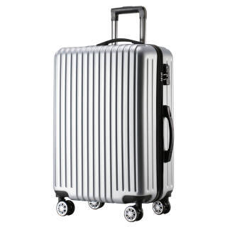 沃趣(woqu)时尚行李箱男女拉杆箱24英寸大容量旅行箱万向轮密码箱WQ1711银色 199.5元