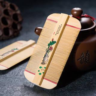 古莎 篦子梳子 竹质超密齿 26.8元