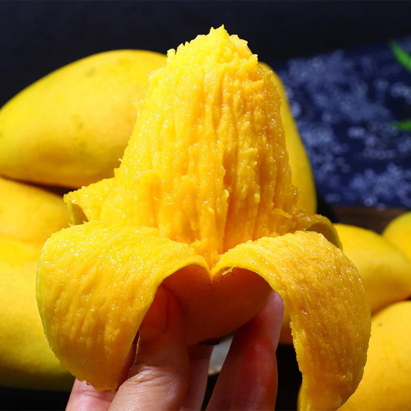 芒果新鲜10斤带箱海南小台芒应季水果热带三亚台农芒果整箱包邮 29.9元