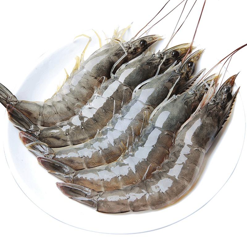 青岛大虾鲜活海鲜水产活虾基围虾超大冻虾对虾海虾鲜虾青虾4斤 69元