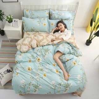 印花芦荟棉磨毛四件套三件套床上用品床单被套套装 69元