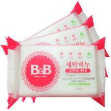 天猫 19日10点: B&B 保宁 婴儿洗衣皂 甘菊花 200g 10块 *2件 125.3元包邮(合6.2