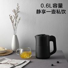 ¥69.5 美的电热水壶家用便携式0.6L小型