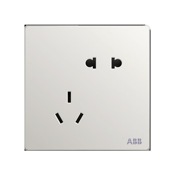 ABB 轩致系列 AF205 五孔10A插座 雅典白 7.8元包邮