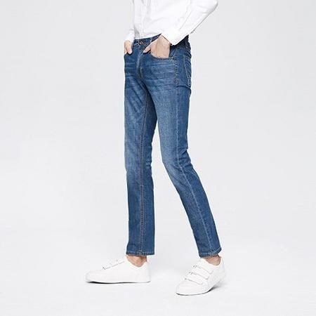 HLA 海澜之家 HKNAD1E073A 男士中腰直筒牛仔裤 158元包邮 ¥158