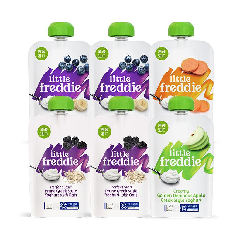 小皮欧洲原装进口酸奶鲜果泥100g*6宝宝婴儿辅食水果泥吸吸袋 87.35元