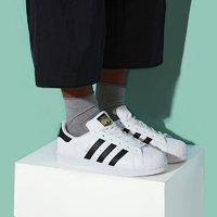 黄金尺码低至¥328 Adidas Superstar 金标小白鞋 大童成人可穿