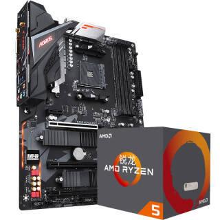 技嘉(GIGABYTE)B450 AORUS PRO WIFI 主板 AMD 锐龙 5 2600X 处理器 板U套装 1959元