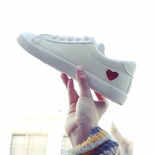 2019夏季爱心小白鞋女板鞋 ¥30