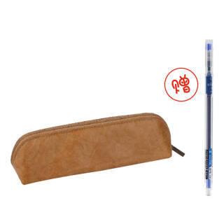 国誉(KOKUYO) PC102 ASSORT 杜邦纸笔袋 茶色 送中性笔 *2件+凑单品 36.48元(合18.24元/件)