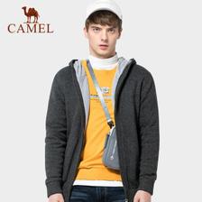 骆驼男装 秋冬时尚修身针织加绒外套 券后¥108