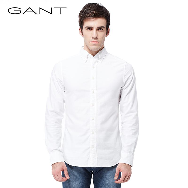 GANT/甘特春夏 男士牛津纺长袖衬衫 棉休闲净色衬衫300012 149元