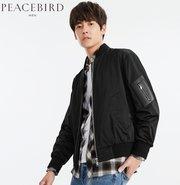 PEACEBIRD 太平鸟 男士刺绣棒球夹克 132元'