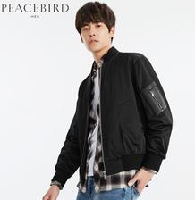 PEACEBIRD 太平鸟 男士刺绣棒球夹克 132元