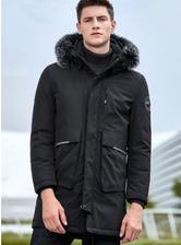 ¥299 雅鹿羽绒服男士冬季中长款宽松外套
