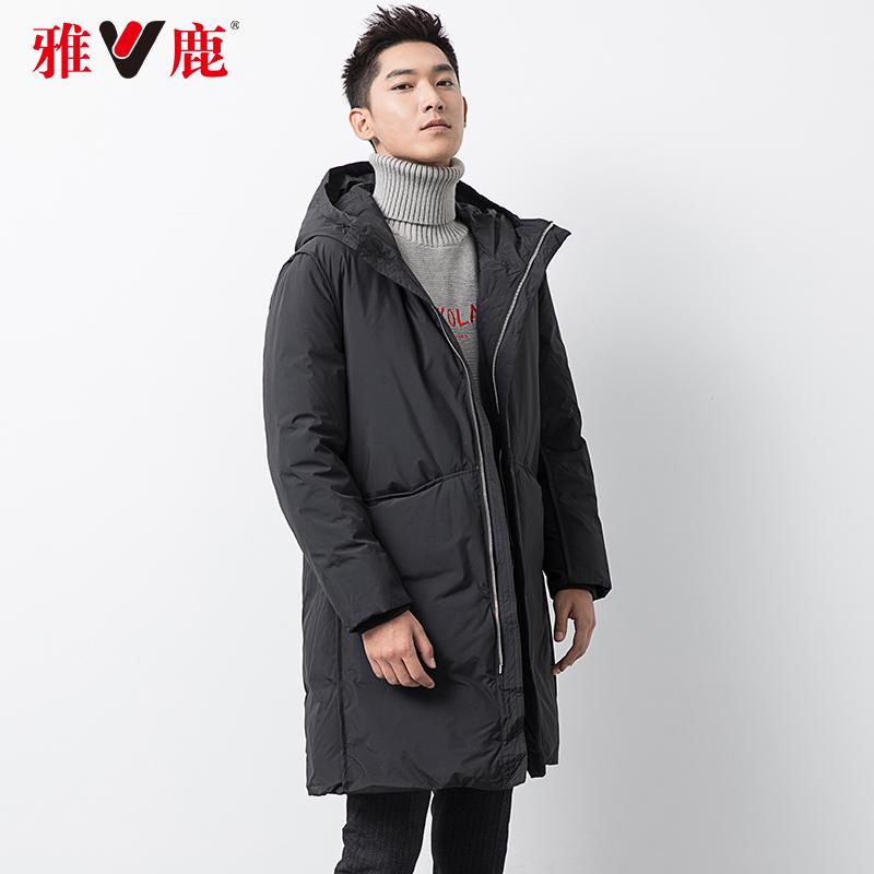 ¥329 Yaloo 雅鹿 2019新品 90%鹅绒加厚中长款羽绒服