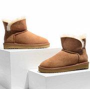 双11预告:羊皮毛一体,考拉工厂店 矮靴经典款雪地靴 前2小时209元,黑卡会员188.1元包邮'