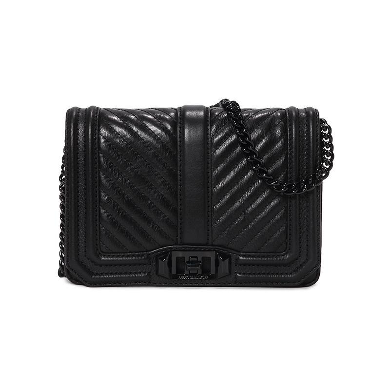 20日0点: REBECCA MINKOFF CHEVRON QUILTED SMALL LOVE 女士斜挎包 低至459.5元(未含税)